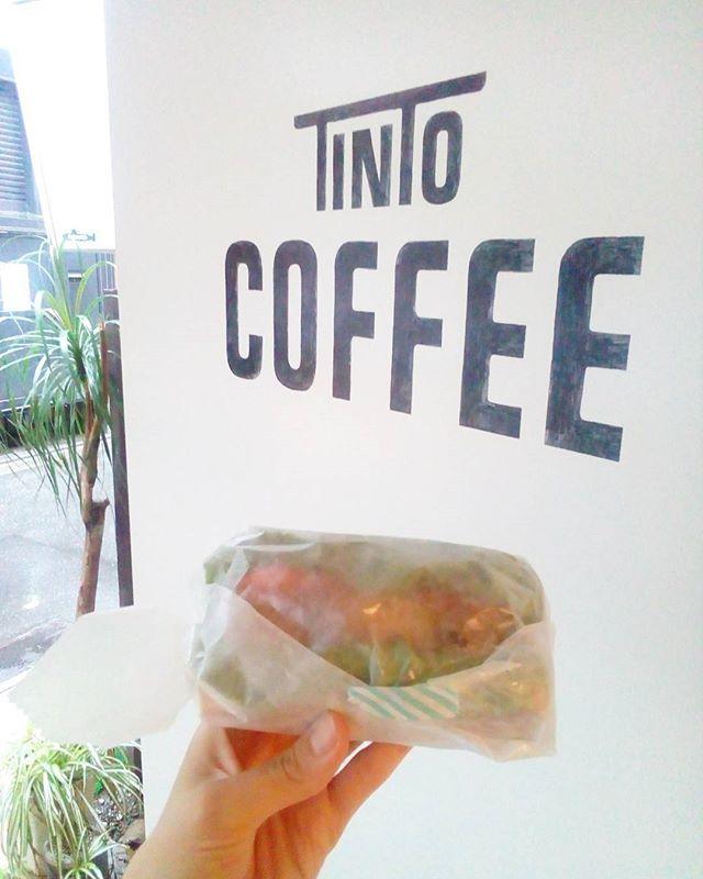 おはようございます外は雨ですがTINTOCOFFEEOPENしましたゆっくりしていってくださいね♪ [今日のサンドイッチ]バジルチキンサンドTINTO COFFEE 月ー金  9:00ー18:30土・祝 10:00ー18:30#coffee#coffeetime#coffeestand#tintocoffee#cake#cookie#お菓子#ケーキ#クッキー#マフィン#コーヒー#コーヒースタンド#渋谷#青山