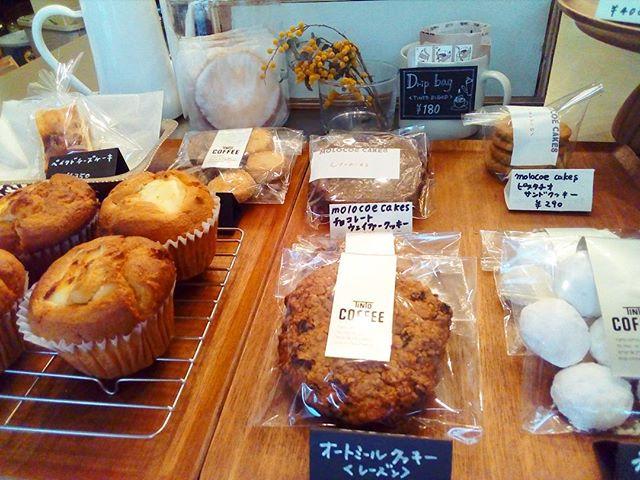 今日のお菓子♪ TINTO COFFEE 月ー金  9:00ー18:30土・祝 10:00ー18:30#coffee#coffeetime#coffeestand#tintocoffee#cake#cookie#お菓子#ケーキ#クッキー#マフィン#コーヒー#コーヒースタンド#渋谷#青山