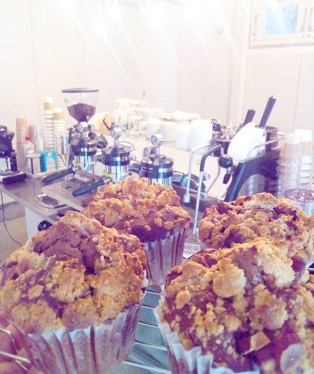 おはようございますココアマーマレードクランブルマフィン焼き上がりましたーーー!おやつにいかがですか♪ TINTO COFFEE 月ー金  9:00ー18:30土・祝 10:00ー18:30#coffee#coffeetime#coffeestand#tintocoffee#cake#cookie#お菓子#ケーキ#クッキー#マフィン#コーヒー#コーヒースタンド#渋谷#青山