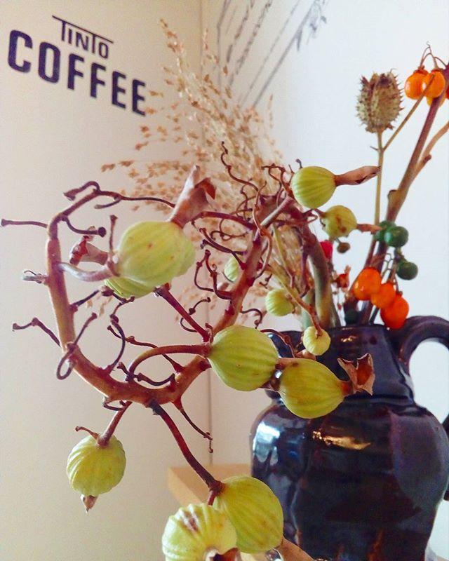 秋の花flower  shop cochonさんから届けていただきました #秋のたより#cochon#TINTOCOFFEE#tintocoffee
