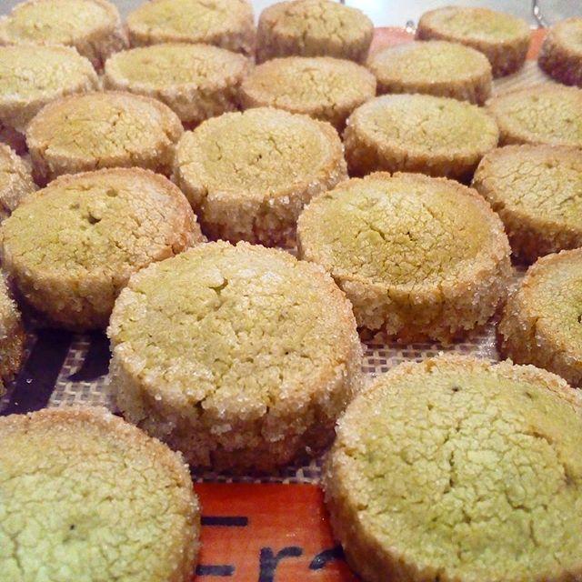 アイスボックスクッキー〖抹茶〗焼けましたーーー🐊