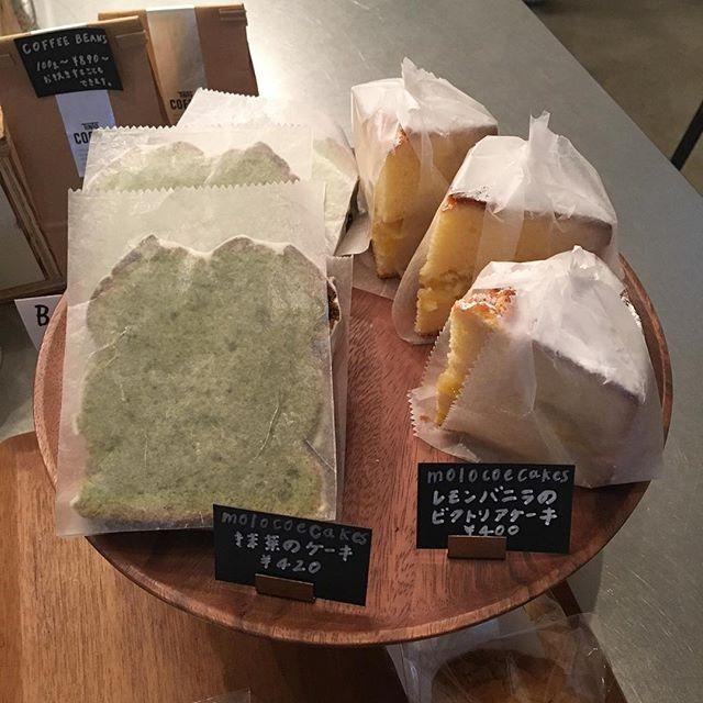 .先ほど、今年初めてのMOLOCOECAKESさんのお菓子がお店に届きました!ラインナップは、◯抹茶のケーキ◯レモンとバニラのビクトリアケーキ◯ホワイトチョコとカシューナッツのクッキーの3種類です!コーヒーブレイクのお供に是非どうぞ️...#渋谷#青山#表参道#コーヒー#コーヒースタンド#ケーキ#パウンドケーキ#クッキー#coffee#cake#cookies