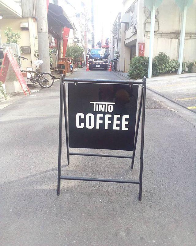 道は工事中ですがOPENしてます温かいコーヒーでのんびりしていってくださいね #TINTOCOFFEE #COFFEE#cookie #cheesecake#渋谷#表参道#青山