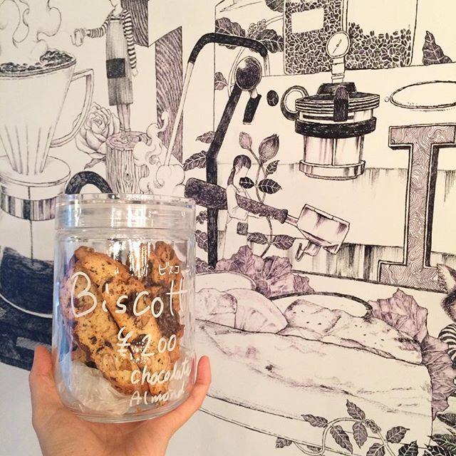 ビスコッティ焼けました︎︎ #TINTOCOFFEE#coffee#cake#cookies#シロップジュース#ホットチョコレート#渋谷#表参道#青山#ビスコッティ